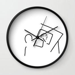 architect technical draftsmen Wall Clock