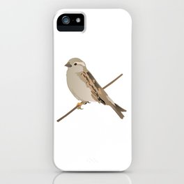 House Sparrow Bird on a Twig iPhone Case