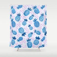 Pineapple Breeze Shower Curtain
