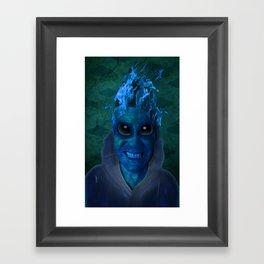 BLUE PLANET ALIEN (Us And Them) Framed Art Print