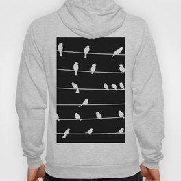 Birds on a wire pattern Hoody