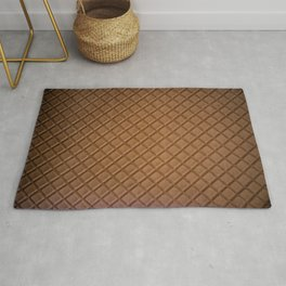 Chocolate brown leather lattice pattern - By Brian Vegas Rug