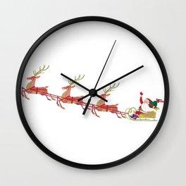 Santa's sleigh Wall Clock