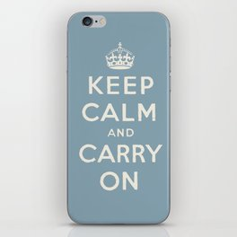 keep calm and carry on iPhone Skin