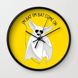 Bat singing M. Jackson | Animal Karaoke | Illustration Yellow Wall Clock
