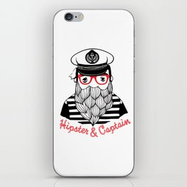 Captain & Hipster iPhone Skin