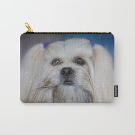 Handsome Lhasa Apso Carry-All Pouch