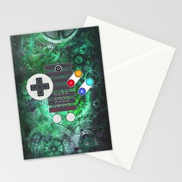 Classic Steampunk Game Controller Stationery Cards
