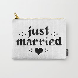 just married couple wedding gift pixel heart Carry-All Pouch