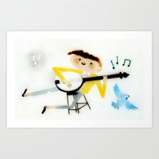 Banjo Art Print