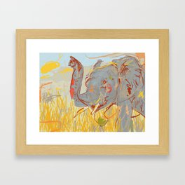 Kooky Elephant Framed Art Print