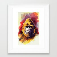 ape Framed Art Prints featuring APE by Chris Brothers