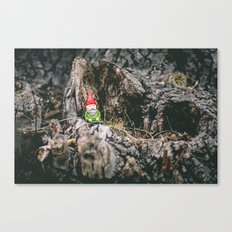 Oli the Gnome in His Summer House Canvas Print