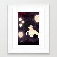 tokyo Framed Art Prints featuring Tokyo by Jenny Lloyd Illustration