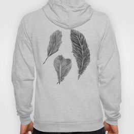 Feather Collection - black and white Hoody