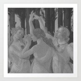 Black White Primavera Art Print