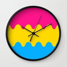 Wavy Pansexual Flag Wall Clock