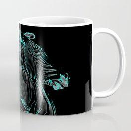 Turquoise Inverse Zebras Coffee Mug
