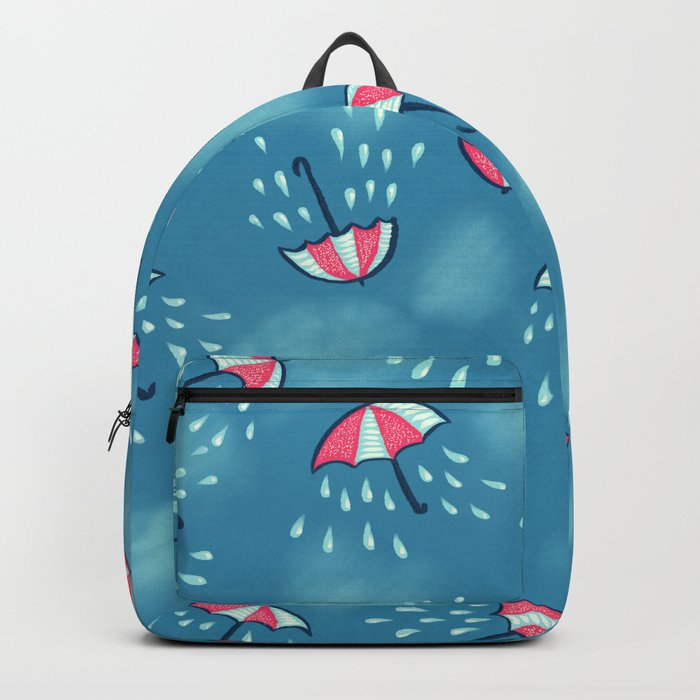 Raining Umbrella Pattern Backpack
