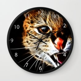 Scared cat painting Wall Clock