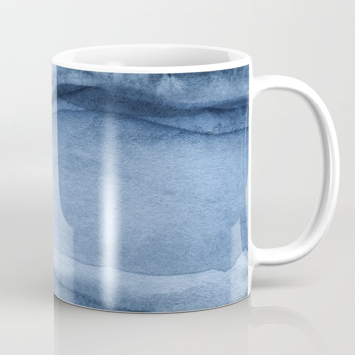 Indigo Blue Agate Pattern Coffee Mug