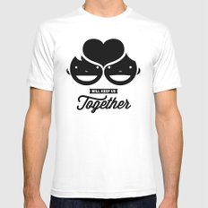 love will keep us together SMALL Mens Fitted Tee White