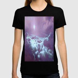 Mystic Clouds Lavender Aqua T-shirt