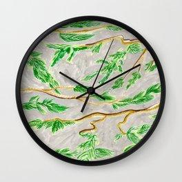 Hemlock Study Brush Pen Illustration by Amanda Laurel Atkins Wall Clock