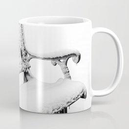 Snow Covered Park Bench Coffee Mug