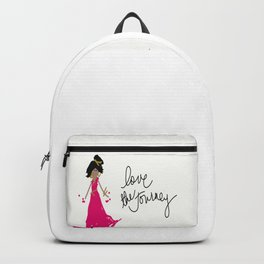 Love The Journey Girl in Pink Backpack