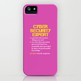 Cybersecurity Hacker Computer Nerd Gift iPhone Case