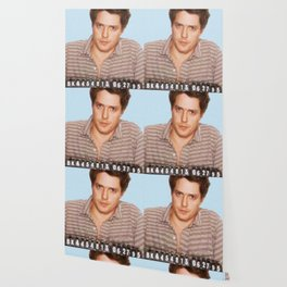 Painting of Hugh Grant Mug Shot 1995 Black Color Mugshot Wallpaper