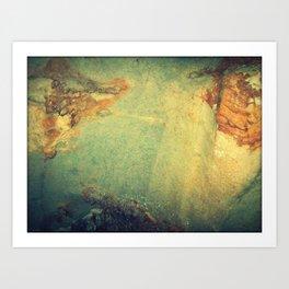 Textures 2 - Limestone Caverns Art Print