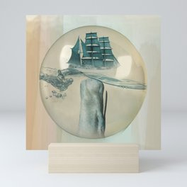 The Battle - Captain Ahab and Moby Dick Mini Art Print