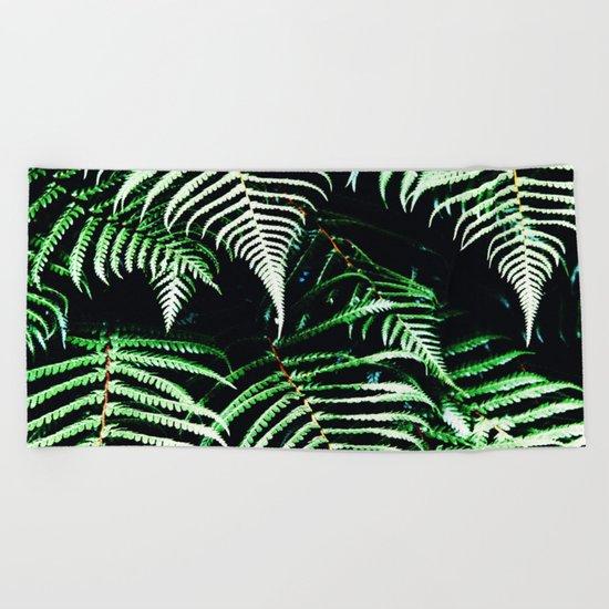 Entranced Ferns #society6 #prints #decor #home Beach Towel
