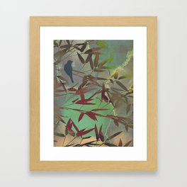 in the bamboo forest Framed Art Print