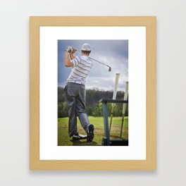 The Perfect Swing Framed Art Print