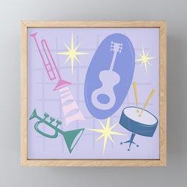 Django Jazz Composition In Purple Framed Mini Art Print