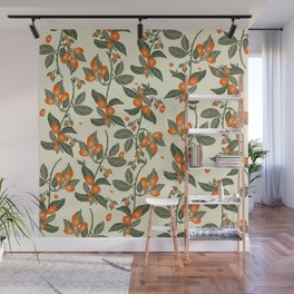 Oranges Pattern Wall Mural