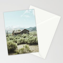 Old house in desert Stationery Cards