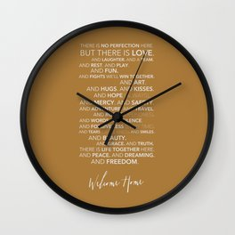 Family Manifesto (Orange) Wall Clock
