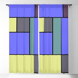 Mondrian #55 Blackout Curtain