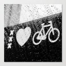 xxx Heart Bike Canvas Print