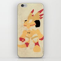 digimon iPhone & iPod Skins featuring Rapidmon  by JHTY