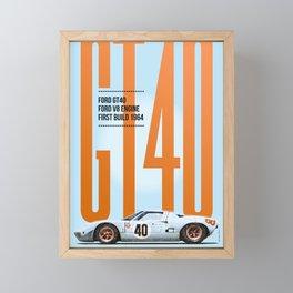 GT40 Gulf Tribute Framed Mini Art Print
