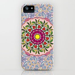 Garden Party Doodle Art iPhone Case