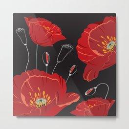 Poppy variation 8 Metal Print