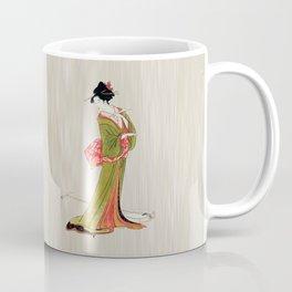 A Geisha in Green Coffee Mug
