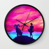 aries Wall Clocks featuring Aries by Krista May