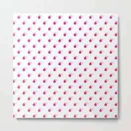 HOT PINK BOMB DIGGITYS ALL OVER LARGE Metal Print